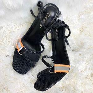 NWT Cape Robbin Multi Black Strap Sandal Heels